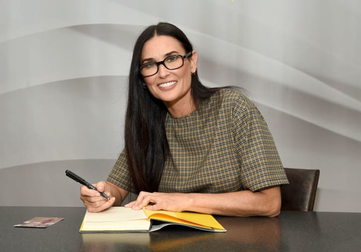 "Actress Demi Moore attends the signing of her memoir ""Inside Out"" at Barnes & Noble Union Square on September 24, 2019 in New York City"