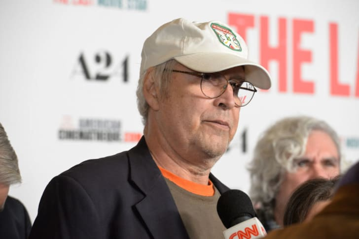 Chevy Chase attends the premiere of The Last Movie Star in Hollywood, California.