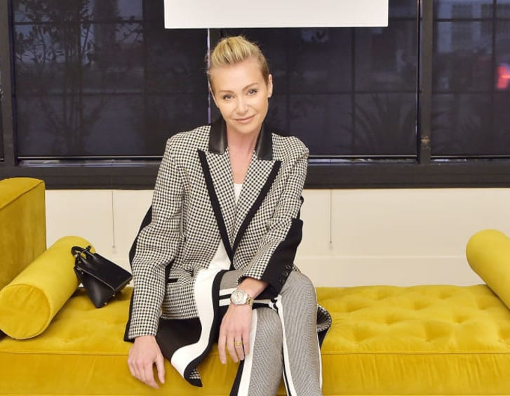 Portia de Rossi attends the Nate and Jeremiah for Living Spaces Upholstery Collection Launch at Casita Hollywood on October 3, 2018 in Los Angeles, California