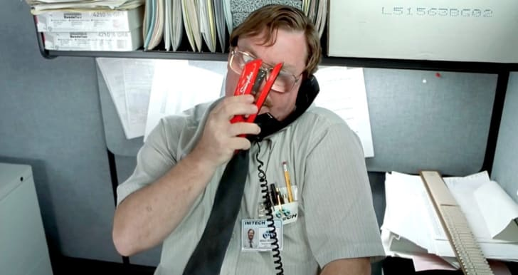 Stephen Root in Office Space (1999).