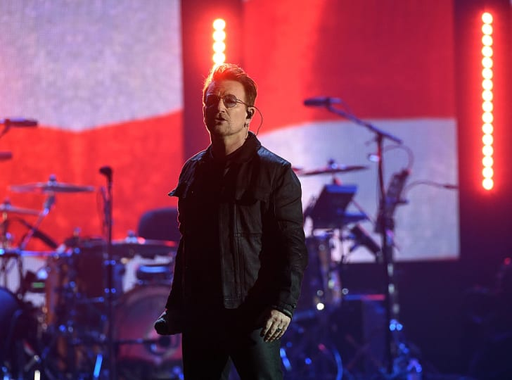 Bono of music group U2 performs onstage at the 2016 iHeartRadio Music Festival at T-Mobile Arena on September 23, 2016 in Las Vegas, Nevada