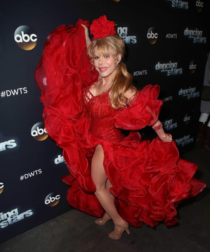 "Pop music icon Charo attends ""Dancing with the Stars"" Season 24 at CBS Televison City on March 27, 2017 in Los Angeles, California"