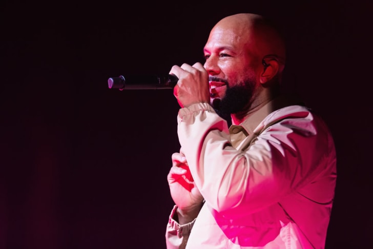 Rapper Common performs on stage at The Moore Theatre on July 14, 2019 in Seattle, Washington