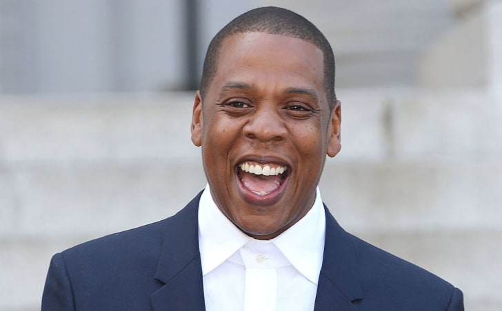 "Shawn ""Jay Z"" Carter makes an announcement on the Steps of City Hall Downtown Los Angeles for a Labor Day Music Festival at Los Angeles City Hall on April 16, 2014 in Los Angeles, California"