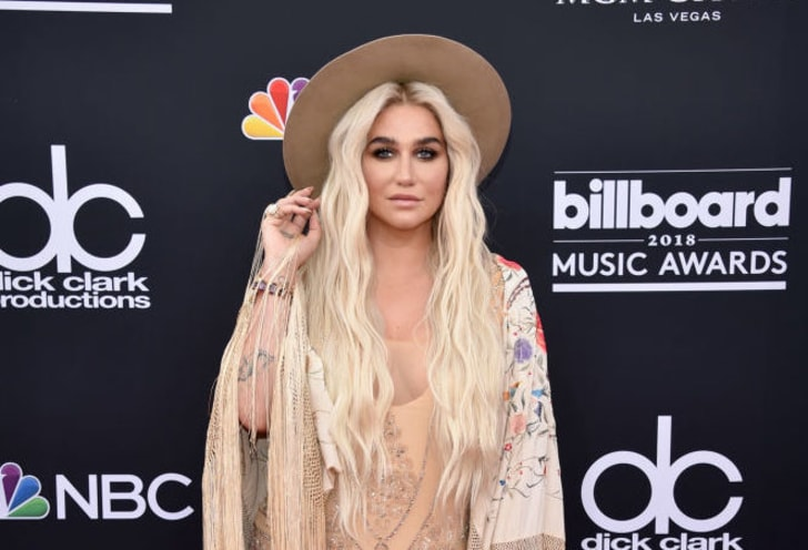 Kesha attends the 2018 Billboard Music Awards at MGM Grand Garden Arena on May 20, 2018 in Las Vegas, Nevada