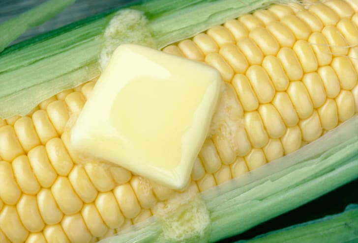 Pat of butter on corn