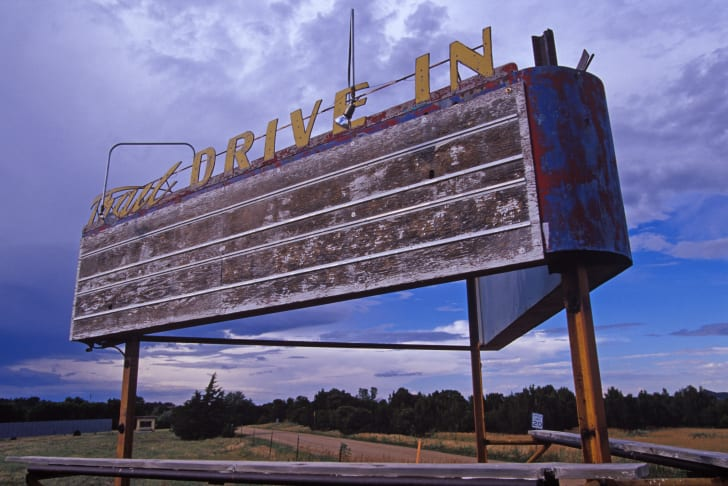 A movie drive-in sign.