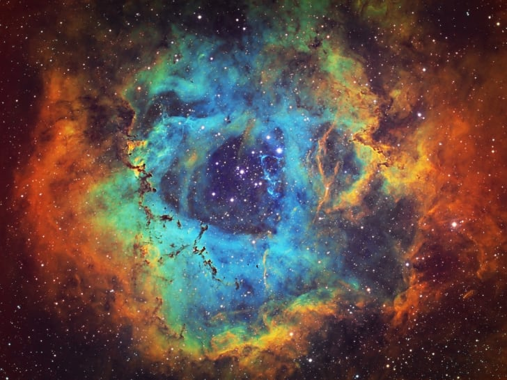 The Rosette Nebula (NGC 2237, Caldwell 49) in the constellation of Monoceros
