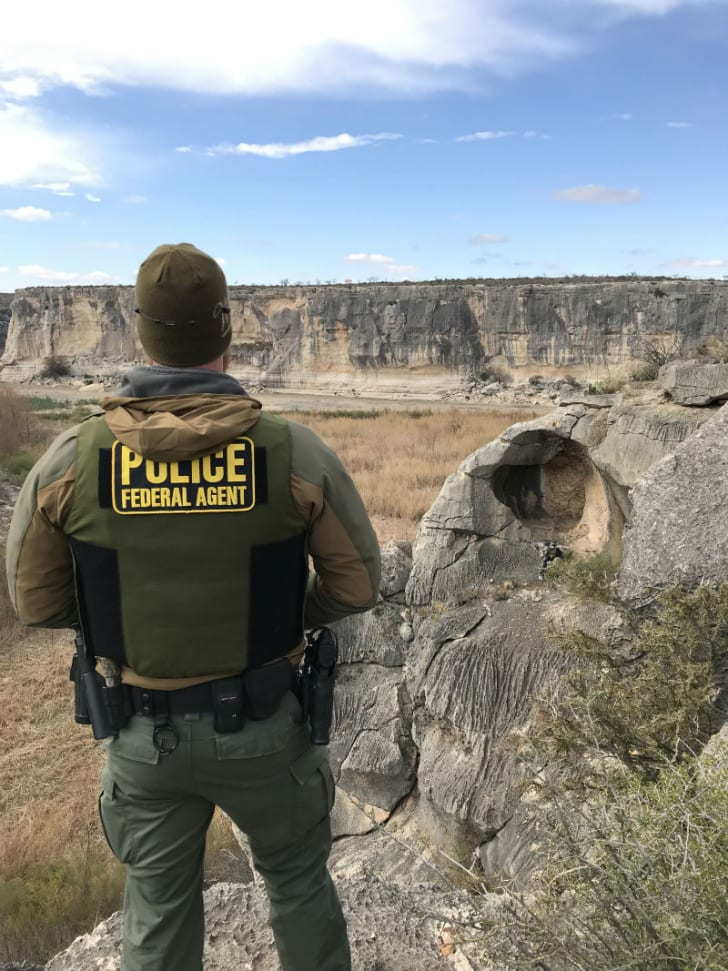 A National Park Service Investigative Services Branch Special Agent is pictured