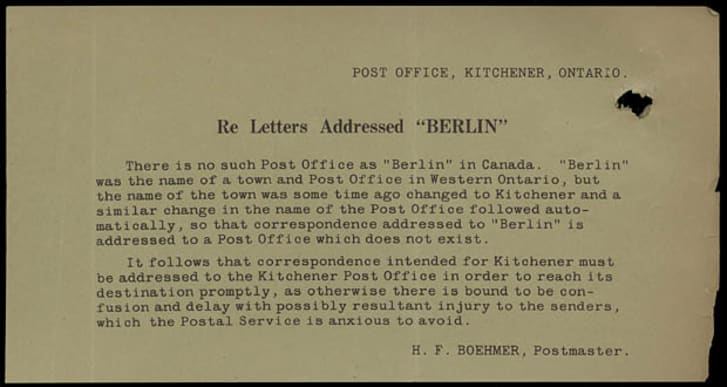 A picture of a vintage letter