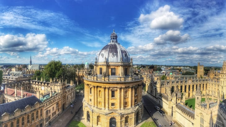 Skyline view of Oxford University's Radcliffe Camera