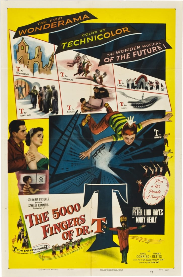 Theatrical release poster for the film 5,000 Fingers of Dr. T. (1953)