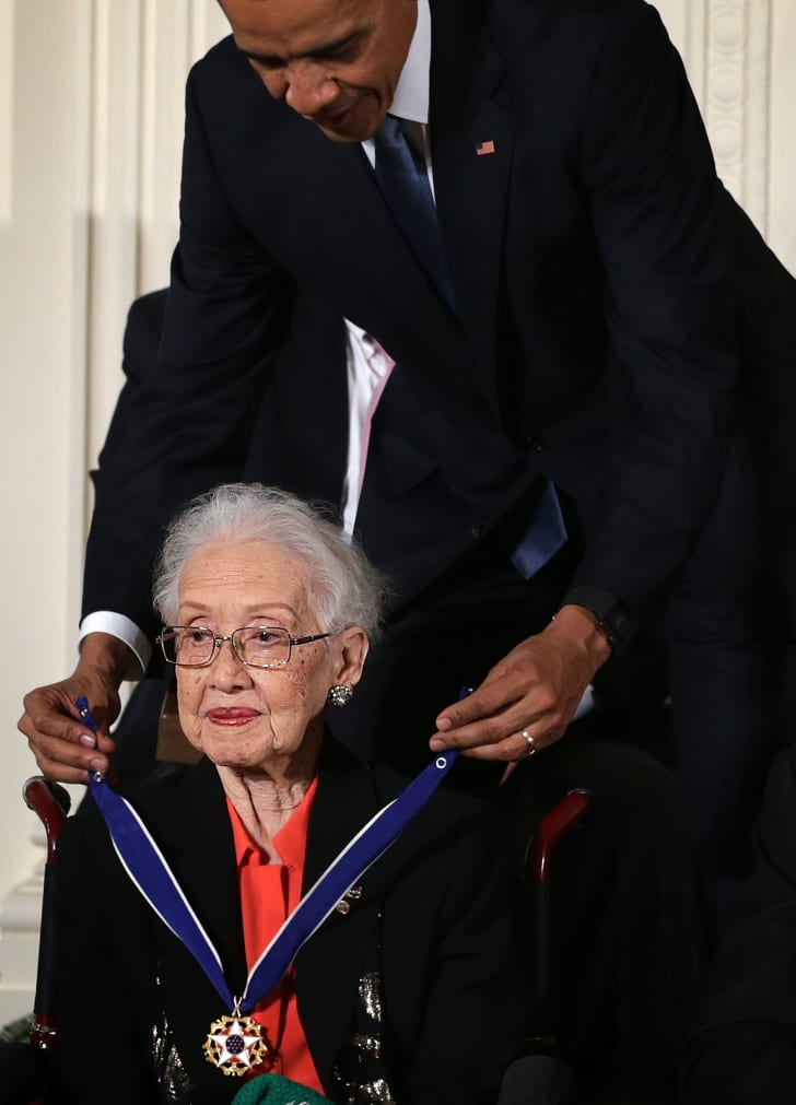 katherine johnson gets the presidential medal of freedom