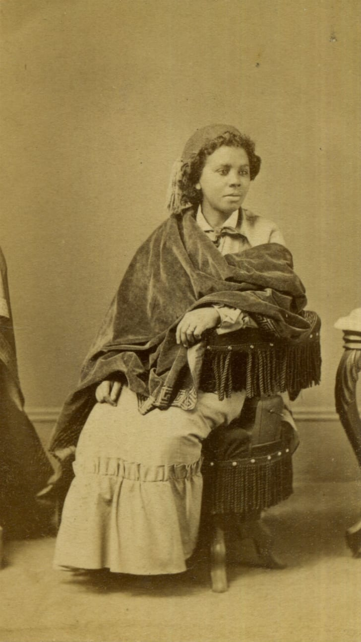 Edmonia Lewis is pictured