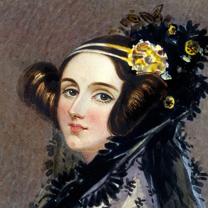 Painted picture of Ada Lovelace