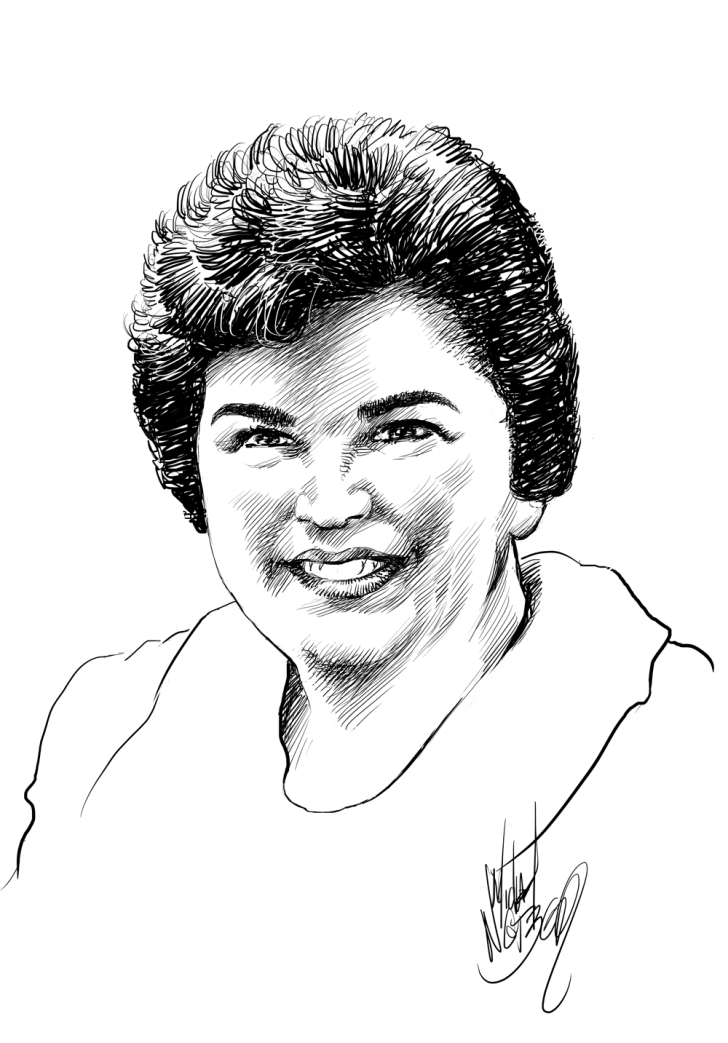 Portrait of Marvel comics artist Marie Severin, from Michael Netzer's Portraits of the Creators Sketchbook.