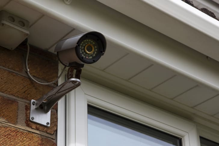 A photo of a home security camera.