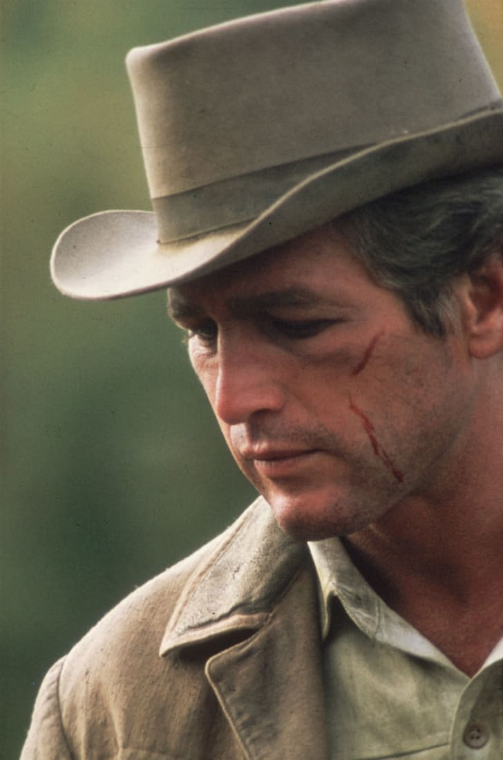 Paul Newman is pictured in a still from 1969's 'Butch Cassidy and the Sundance Kid'
