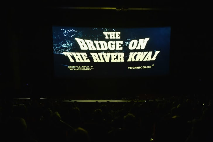 A theater screens 1957's 'The Bridge on the River Kwai' in Los Angeles, California in April 2017