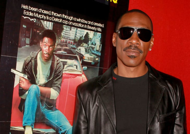 Eddie Murphy is pictured at a screening of 1984's 'Beverly Hills Cop' at the Mann Chinese in Los Angeles, California in May 2010