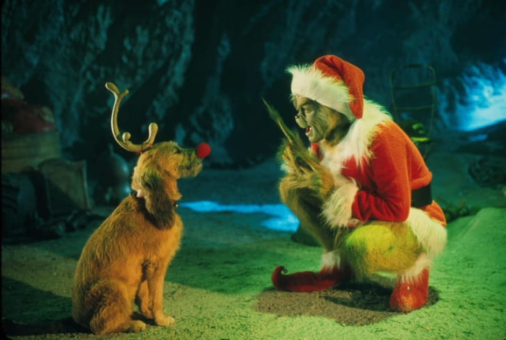 Jim Carrey is pictured in a still from 2000's 'How the Grinch Stole Christmas'