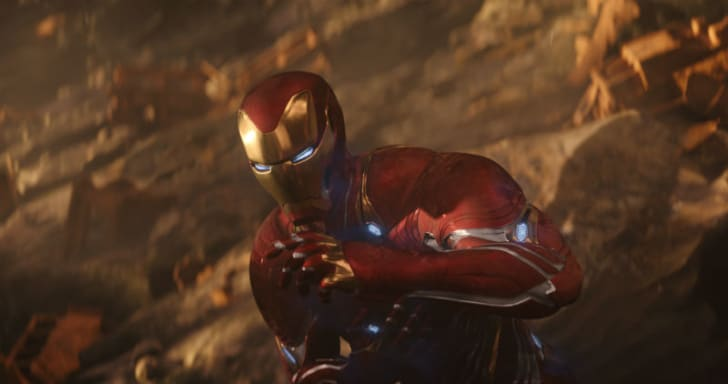 Iron Man is pictured in a scene from 2018's 'Avengers: Infinity War'