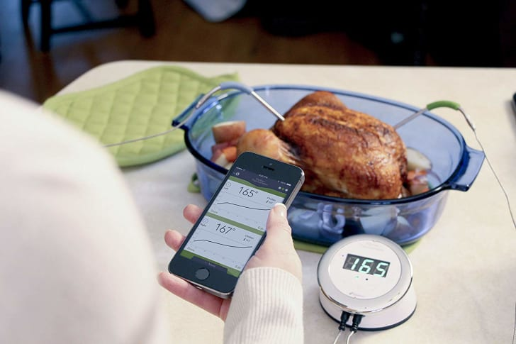 A smart thermometer for cooking.
