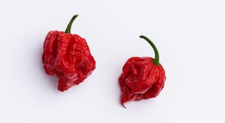 A picture of a Carolina Reaper pepper