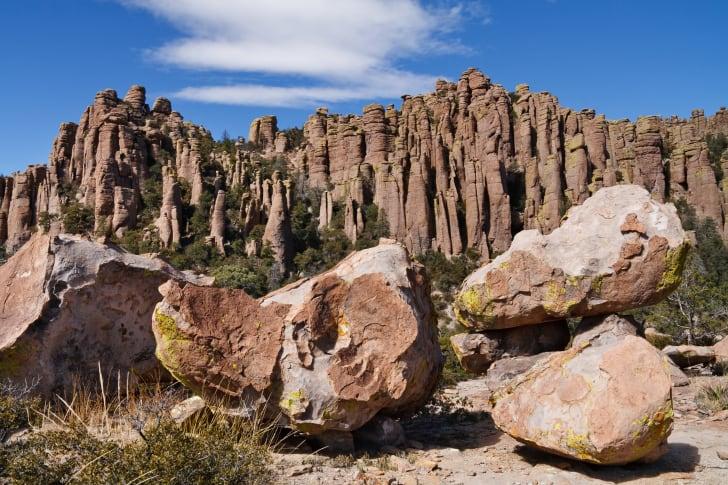 Stone hoodoos in Chiricahua National Monument