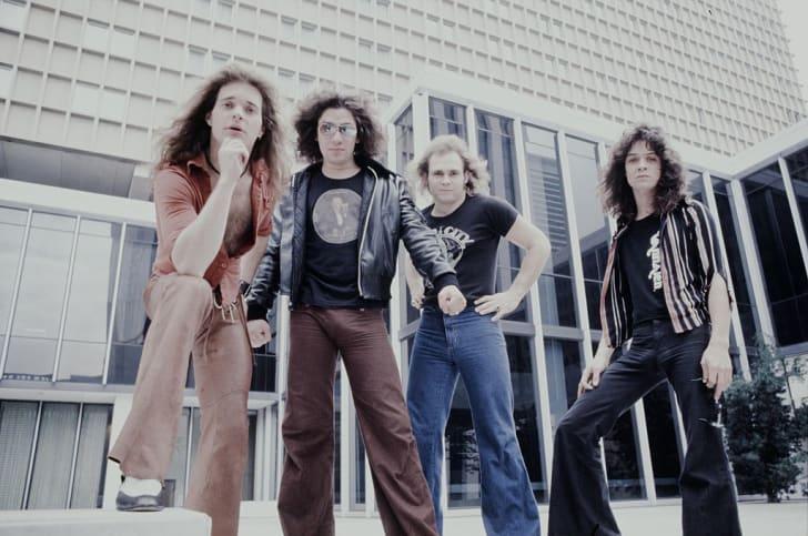 Van Halen poses circa 1978.
