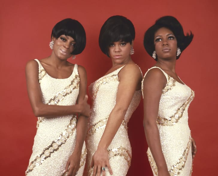 Diana Ross, Cindy Birdsong, and Mary Wilson of The Supremes in 1968.
