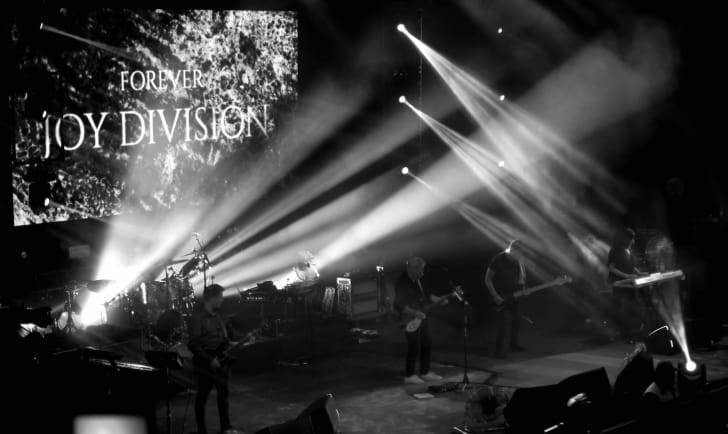 New Order tribute to Joy Division in Chile in 2019.