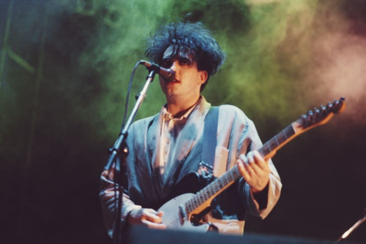 The Cure's Robert Smith performs in Brazil in 1987.