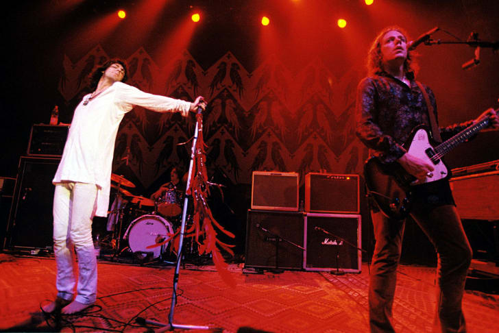 Chris and Rich Robinson of the Black Crowes performing at The Empire in London in 1998.