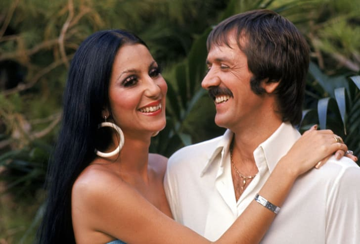 Cher and Sonny Bono pose for a promotional photo for