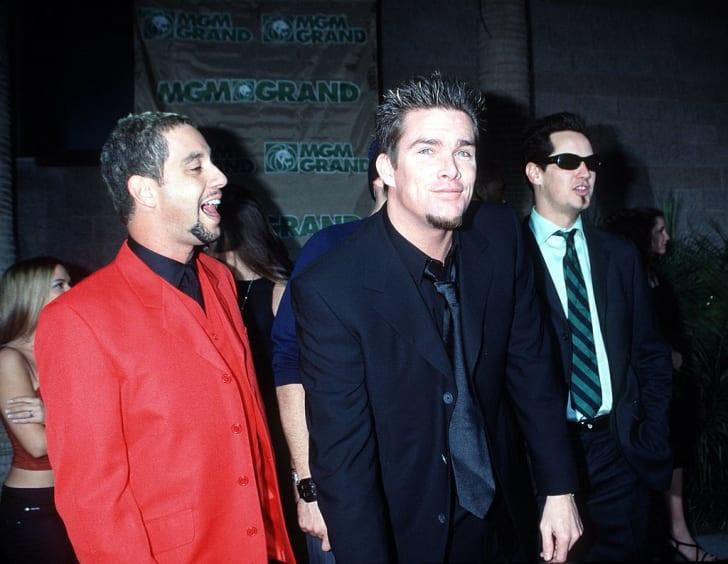 Mark McGrath and Sugar Ray at the 1999 Billboard Music Awards in Las Vegas.