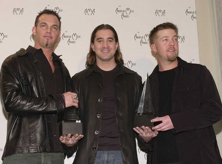 Musical group Creed at the 2001 American Music Awards in Los Angeles.