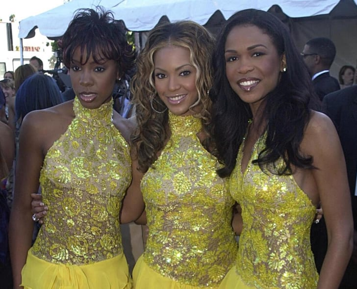 Destinys Child poses at the 2000 Soul Train Lady Soul Awards in Santa Monica, California.