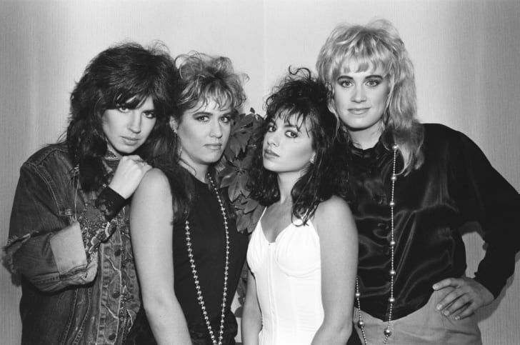 The Bangles—Michael Steele, Vicki Peterson, Susanna Hoffs, and Debbi Peterson—in Japan in 1986.