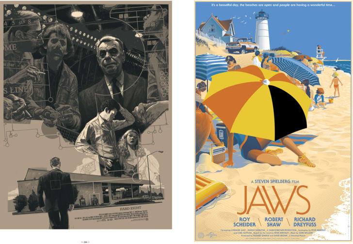 Mondo poster for Jaws and The Hard Eight.