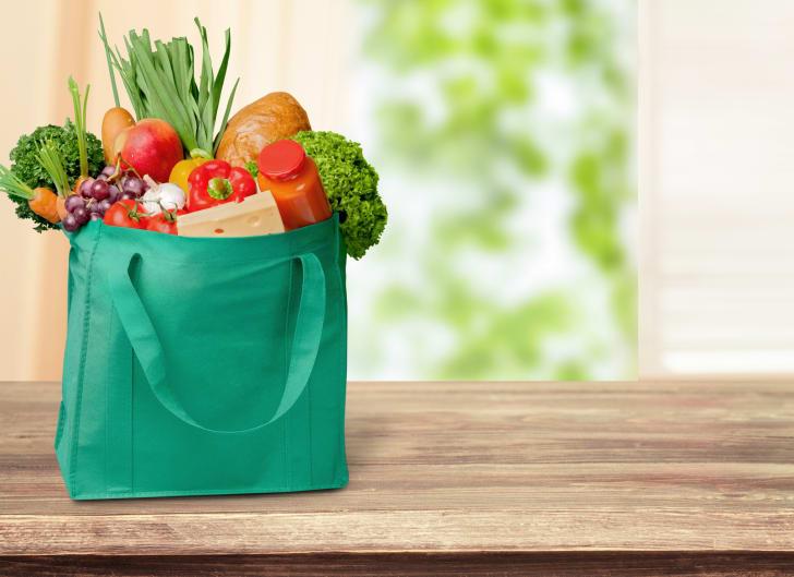 Reusable shopping bags.