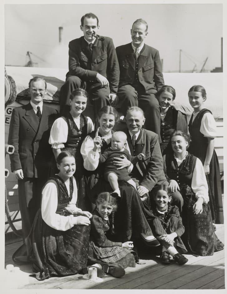 von trapp family in 1939