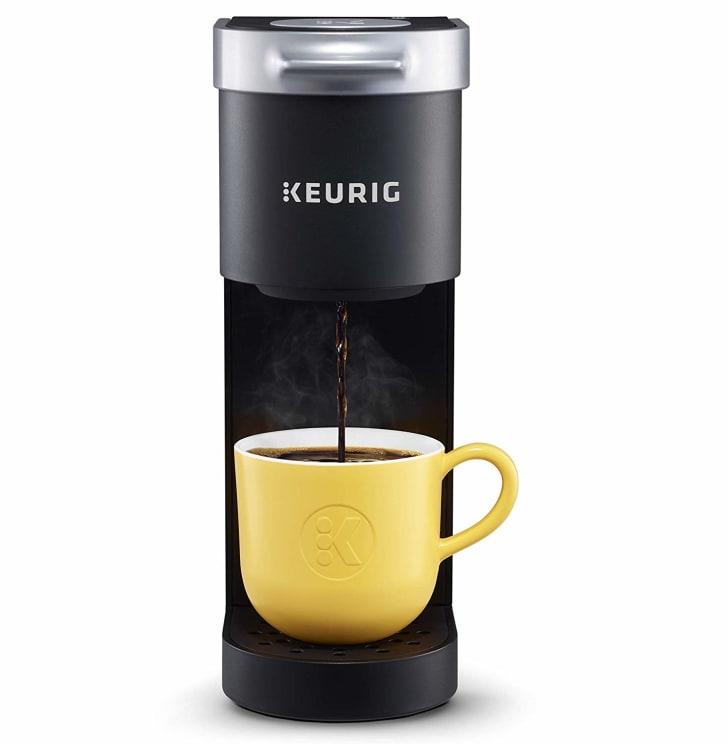 single-serve Keurig coffee machine in black color