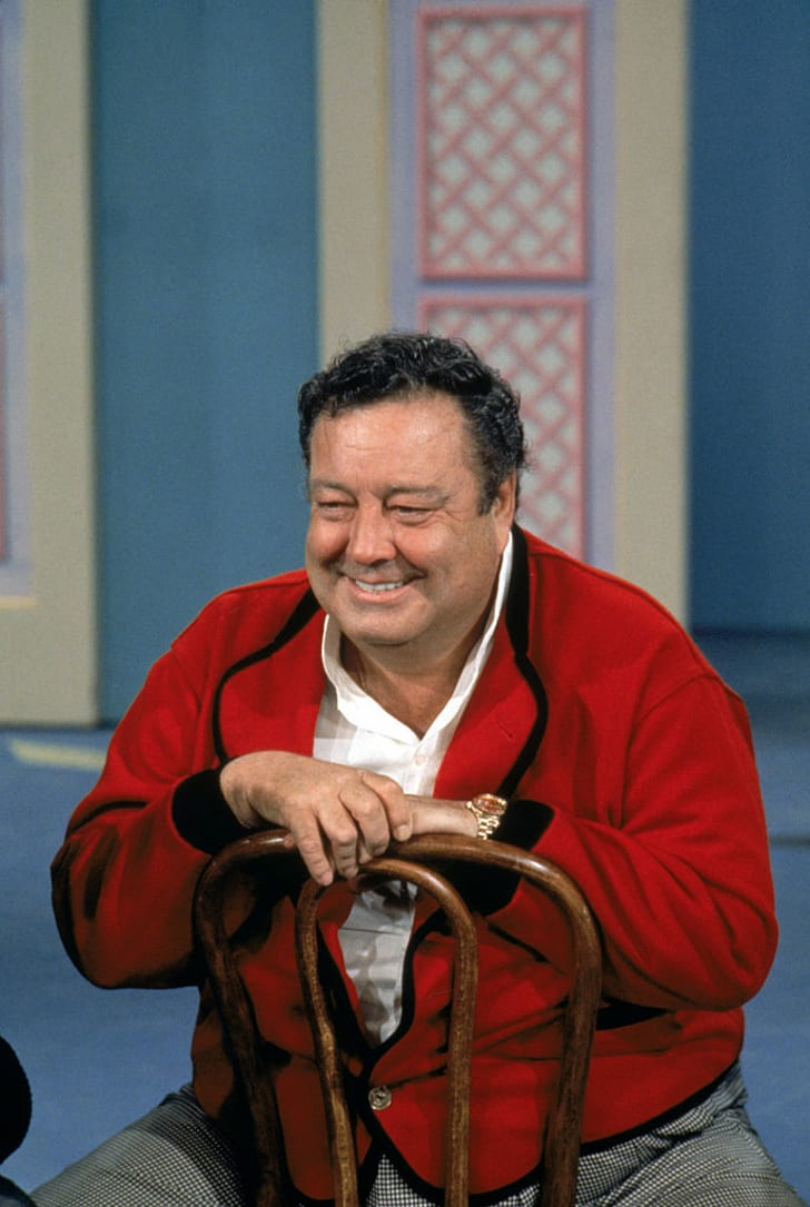 Jackie Gleason tapes a television show in the 1960s.