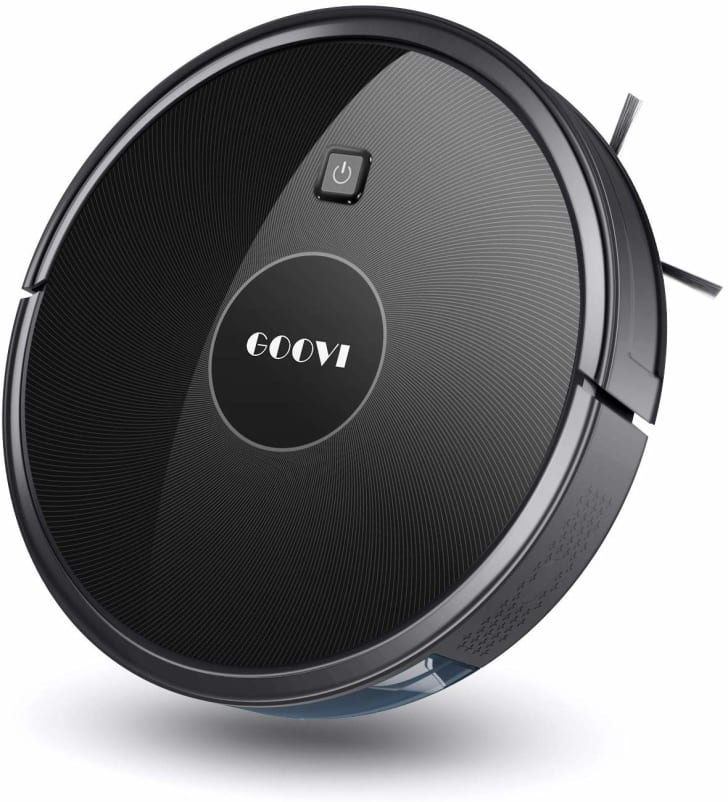 The Goovi robot vacuum cleaner.