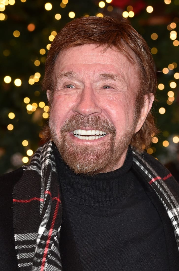 Actor Chuck Norris during the Gut Aiderbichl Christmas Market opening on November 12, 2019 in Henndorf am Wallersee, Austria