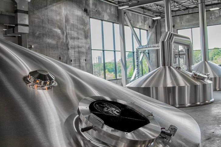 Stone Brewery equipment.
