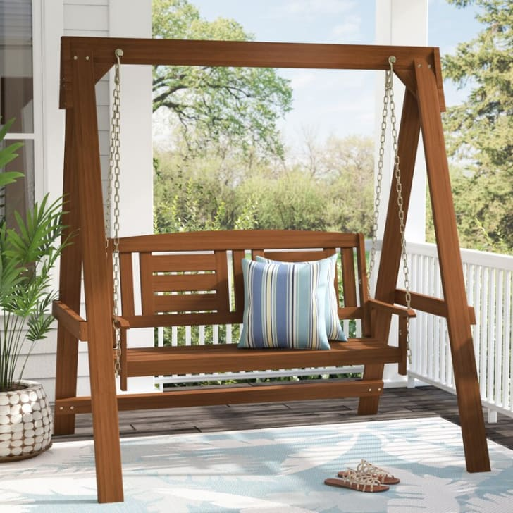 Swinging bench from Wayfair