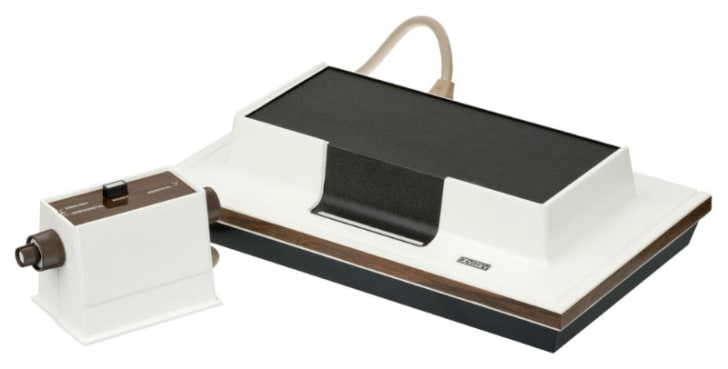 The Magnavox Odyssey is pictured