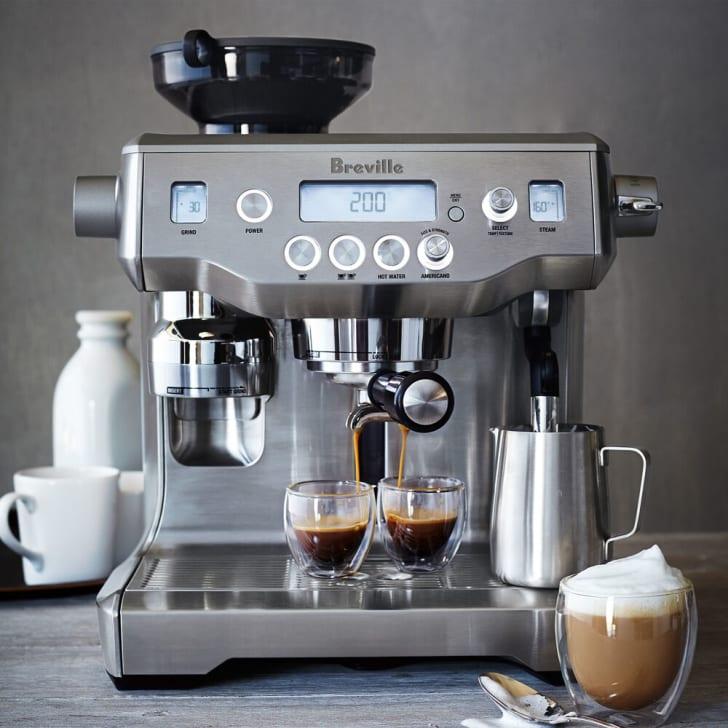 A Breville espresso maker